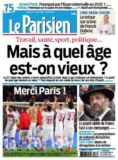 Le Parisien - Jeudi 11 Avril 2013