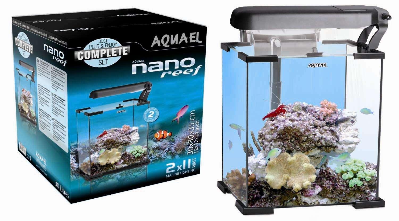 nano reef 20 l nero aquael mini acquario completo marino