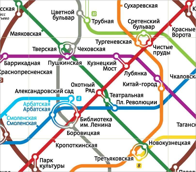 Схема метро от студии Лебедева