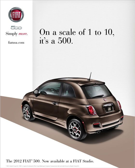 Fiat 500. Simply more.