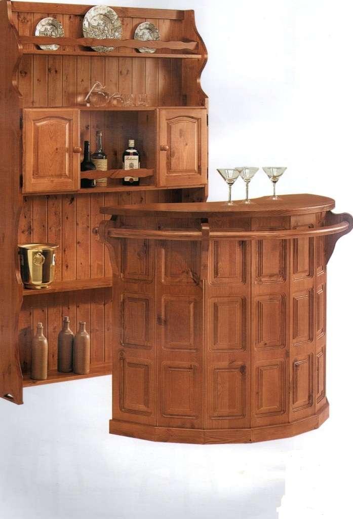 Mobile bar retrobar tavolo tavoli rustico soggiorno credenza credenze rustico ebay - Mobili bar da casa ...