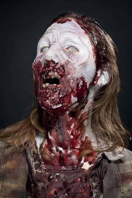 maquillage zombie gelatine