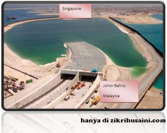 pembinaan terowong bawah laut, terowong johor bahru- singapura, terowong jb singapura mesra alam, pembinaan terowong, terowong bawah laut siap 2018