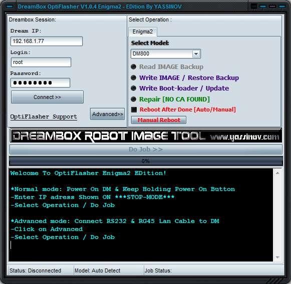 Dreambox OptiFlasher Enigma2 EDition [Archiv] - Dreambox - Satellit